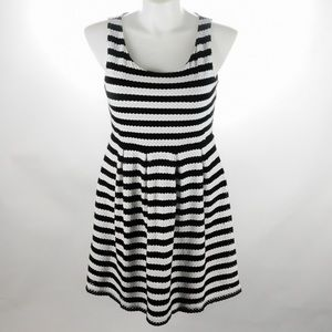 Elle - Black & White - Striped Dress - Size 16